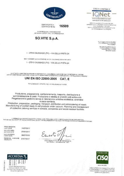 UNI EN ISO 22000-2005