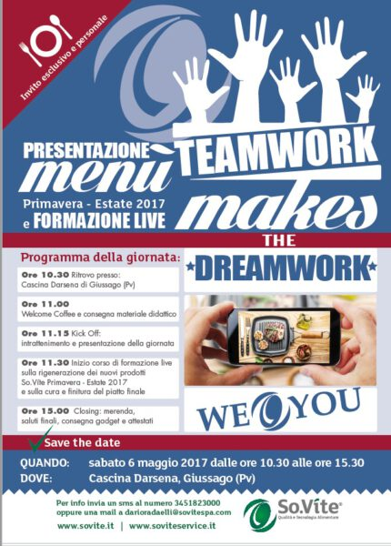 Evento So.Vite: Teamwork makes the Dreamwork!
